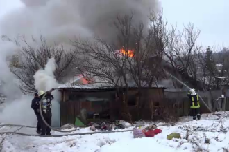 O femeie de 90 de ani a murit într-un incendiu. Pompierii nu au putut să o salveze