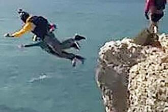 Momentul în care un base jumper a murit după ce parașuta nu i s-a deschis la timp