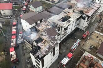 Cum arată blocurile din Chiajna după stingerea incendiului. Imagini FILMATE cu drona