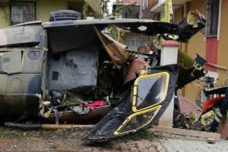 Un elicopter militar s-a prăbușit în Istanbul. Patru persoane au murit