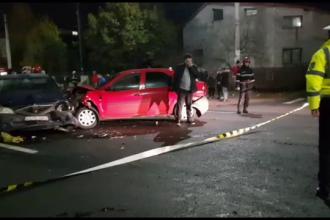 Un șofer băut a provocat un accident în lanț, în Pitești. Un biciclist a fost rănit