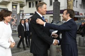 """Președintele Franței l-a lăudat pe Klaus Iohannis pentru că """"apără valorile europene"""""""