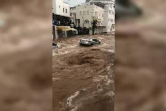 O stațiune populară printre români, sub ape din cauza unei ploi torențiale