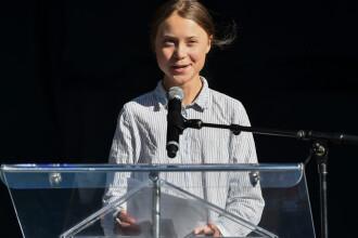 Greta Thunberg participă, vineri, la o grevă legată de schimbările climatice, la Torino