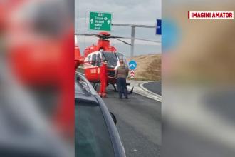 Mașină răsturnată zeci de metri pe A1, în Timiș. O fată de 23 ani a murit pe loc