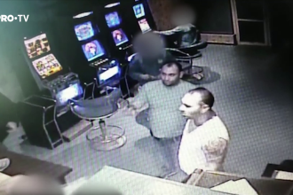 VIDEO. Momentul în care doi infractori lovesc violent un tată care își apăra fiica minoră