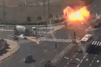VIDEO Momentul în care o rachetă lovește o autostradă circulată de lângă Tel Aviv