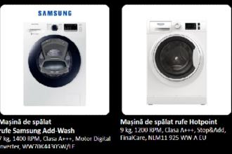Oferte de neratat de la eMag. Mașini de spălat și frigidere la prețuri spectaculoase