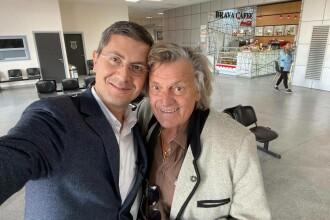 Dan Barna s-a întâlnit cu Florin Piersic în aeroport.