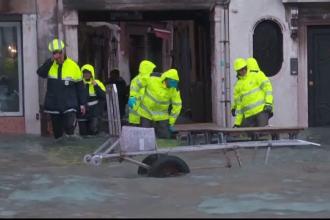 Un nou val de inundații în Veneția. Apele au făcut prăpăd, iar pagubele sunt uriașe