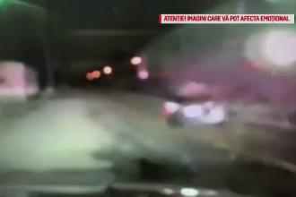 Momentul teribil în care un tren lovește în plin o mașină aflată pe calea ferată. VIDEO