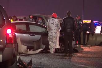 Peste 50 de mașini, implicate într-un accident în Statele Unite. Mai mulți răniți. VIDEO