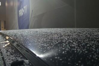 Prima ninsoare din această iarnă în București. Cum va fi vremea sâmbătă și duminică