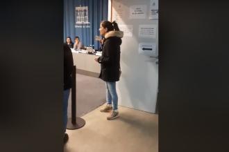 O româncă i-a lăsat fără cuvinte pe cei prezenți la o secție de votare în Spania. VIDEO