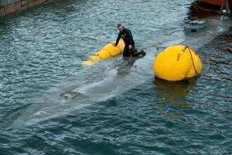 Imagini din submarinul încărcat cu droguri. Este primul de acest fel întâlnit în Europa