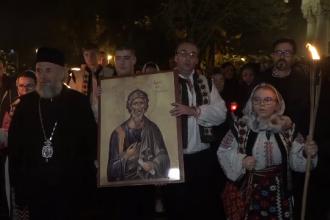 Sfântul Apostol Andrei, prăznuit într-un pelerinaj al luminii la Galați