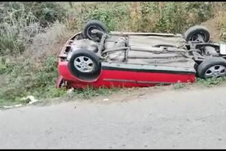 Accident grav de circulație în județul Dâmbovița. Un șofer nu a păstrat distanța