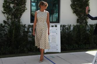 Melania Trump a mers la vot într-o rochie de 4.500 dolari! Ținuta pe care a ales-o Prima Doamnă
