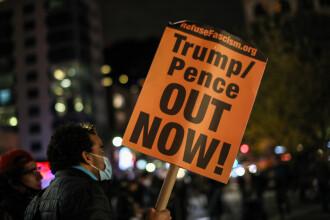 Alegeri SUA 2020. Proteste de stradă după scrutin. Poliția a încercuit zonele sensibile