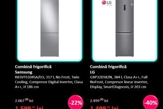 Combină frigorifică LG redusă cu 40%, Aspirator vertical Rowenta 249 de lei. Reduceri uriașe de Black Friday 2020