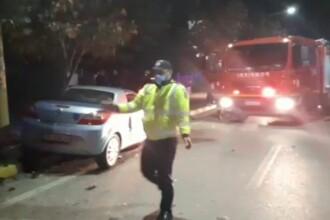 Ciocnire între două autoturisme, pe o stradă din Moreni. Ambii şoferi au fost răniţi