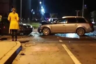 Accident în lanț în Pitești, provocat de un șofer care s-a urcat băut la volan