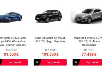 Black Friday 2020. Promoții uriașe la mașini, pe eMAG. Reduceri de până la 30.000 de euro