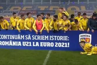 România U21 s-a calificat la turneul final al Campionatului European, după 1-1 cu Danemarca