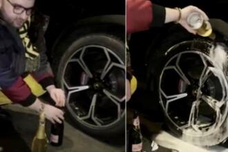 Reacția jurnaliștilor francezi la imaginile în care Victor Micula își spală roțile de la Lamborghini cu șampanie