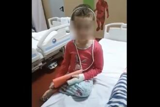 Mama fetiței găsite cu lovituri la cap a fost reținută pentru 24 de ore de polițiștii din Voluntari
