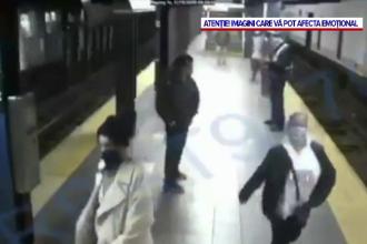 VIDEO. Momentul în care o tânără este împinsă pe șinele de metrou, în New York