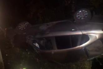 Mașină aruncată în șanț, după ce a fost izbită de un șofer băut pe DN 72. Ce alcoolemie avea