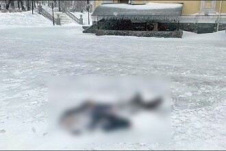 Un bărbat a murit înghețat în curtea unei catedrale din Rusia