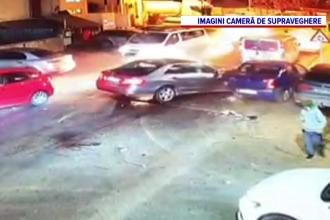 VIDEO. Momentul accidentului cu 7 mașini din Ilfov, după un presupus furt a 650.000 de lei