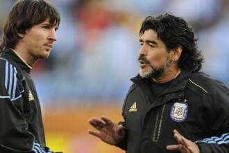 Mesajul postat de Lionel Messi, după decesul lui Maradona: