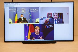 Videoconferinţă între Orban și Merkel, despre necesitatea intrării României în Schengen