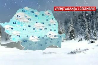 Primele zile de iarnă aduc ploi, ninsori la munte și lapoviță. Când se va încălzi vremea