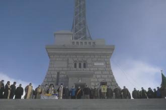 De ziua Sfântului Andrei, ocrotitorul României, Crucea Eroilor de pe vârful Caraiman este resfințită