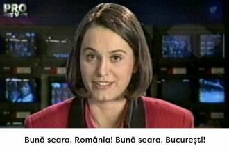 Primul jurnal Știrile PRO TV prezentat de Andreea Esca, pe 1 decembrie 1995