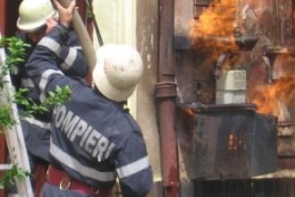 Incendiu violent intr-un restaurant din centrul municipiului Cluj-Napoca