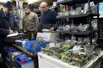 Depozit ilegal de piese auto, descoperit de politistii aradeni