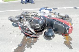 Depasire fatala pentru un motociclist, intre Arad si Timisoara