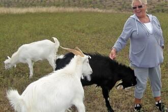 Mirabela Dauer a botezat o capra