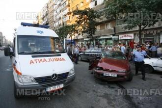 Accident in lant la Timisoara: cinci masini avariate dintr-o lovitura