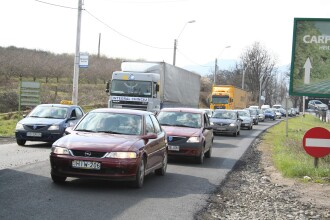 Traficul este restrictionat pe DN7, din cauza unor lucrari de reparatie