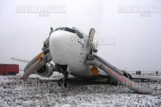 Pasagerii aeronavei prabusite pe Otopeni cer daune