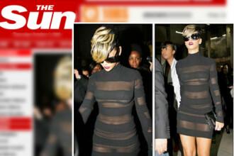 Rihanna a cucerit Parisul! Cu rochita transparenta!