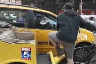 Bataie spectaculoasa pe Broadway, intre doi taximetristi! VEZI VIDEO!