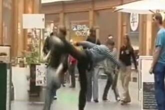 Mai tine-te de bancuri: farsor facut KO cu un high-kick monumental!