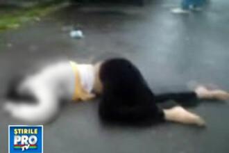 Indurerata de moartea bunicului ei, o tanara s-a aruncat de la etajul 4!